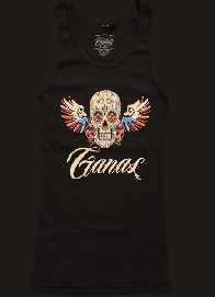 Women�s Skull with Wings- black tank